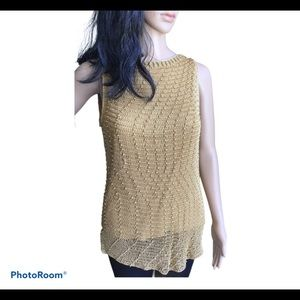 Kroshetta Gold beaded and lined top